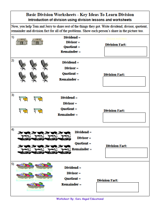 Division Worksheets : division worksheets sharing Division ...